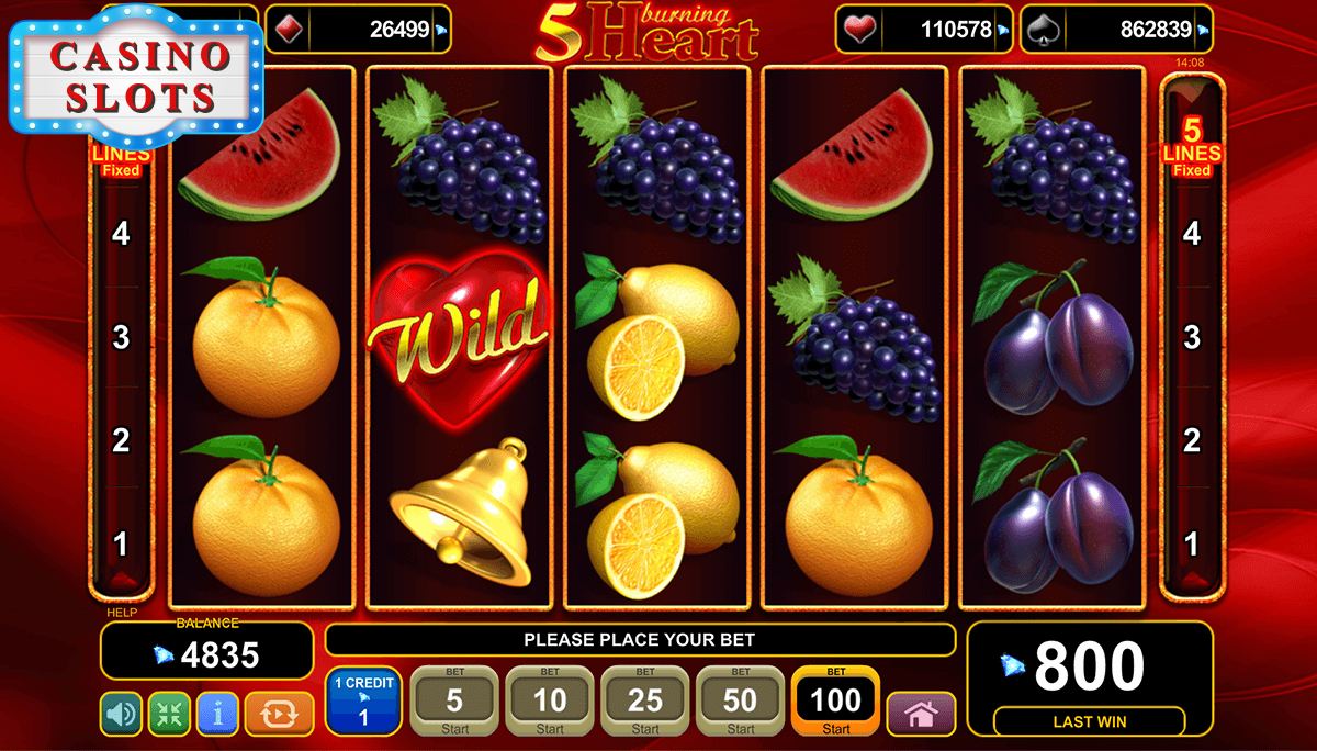 5 Burning Heart Online Slot