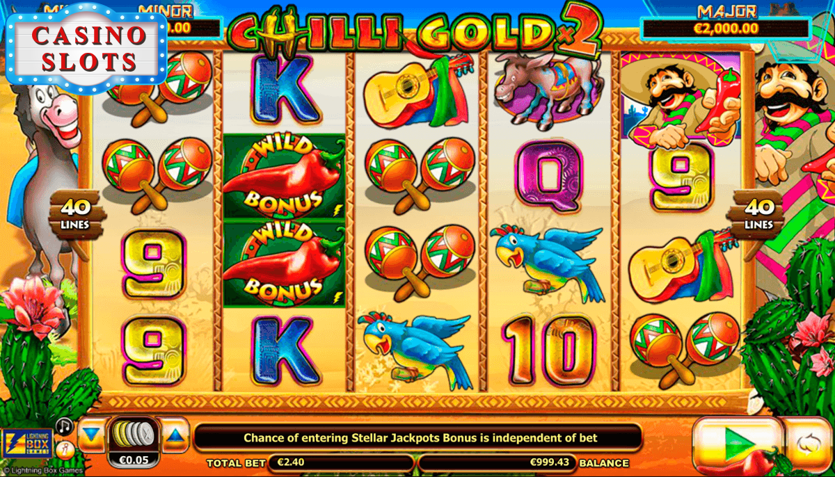 Stellar Jackpots with Chilli Gold x2 Online Slot